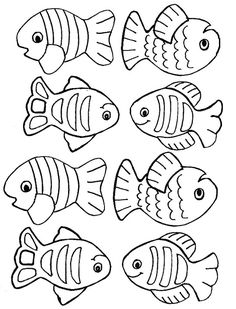 Small Fish Coloring Pages For Kids Title