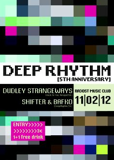 Deep Rhythm w/ Dudley Strangeways | 11.02.2012 | Radost Music Club