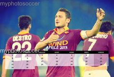 """Color your 2013 red and yellow with desk calendar """"2013 giallorosso"""" Switch 365 days together with your samples of Rome. Inside the best pictures of the players and excited!        Product that you can buy exclusively and only on the site www.myphotosoccer.it"""