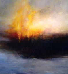 150 x 150 cm. Landscape Artwork, Abstract Landscape, Abstract Art, Seascape Paintings, Art Design, Cool Drawings, Impressionist, Modern Art, Cool Art