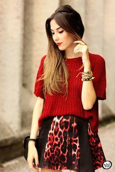 FashionCoolture - 17.03.2015 look du jour Moikana inverno animal print burgundy (2)