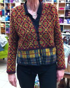 @Rowan yarns Fine Tweed #fairisle #knitlalainerie #madeunique