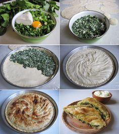 Pitja me spanaq ështe ushqim i preferuar i kuzhines kosovare. Me shijen dhe vlerat ushqimore që i ka është një nga ushqimet që gatuhet dhe konsumohet shpesh në truezat kosovare. Përbërësit:  Për …