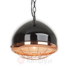 Czarna błyszcząca lampa wisząca ROUTE 66 1509036