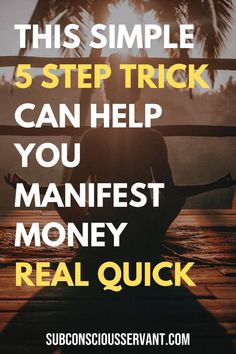 If you want to manifest money quick but are struggling to get any significant results then try this simple 5 step trick for manifesting money using the law of attraction. Law Of Attraction Planner, Law Of Attraction Money, Law Of Attraction Quotes, Manifestation Law Of Attraction, Law Of Attraction Affirmations, Planner Free, Planner Ideas, Quick Money, Money Fast