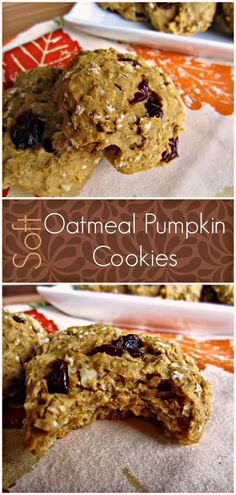 Soft, delicious and figure friendly pumpkin cookies!  You must try this one!