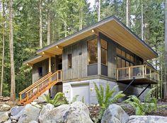 modern cabin homes high quality prefab modern country cabin Prefab Modular Homes, Modular Cabins, Modular Home Builders, Prefab Cabins, Modern Modular Homes, Modern Cabins, Log Cabins, Prefab Cabin Kits, Rustic Modern Cabin