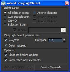 Auto Render Elements - Light Select | ScriptSpot