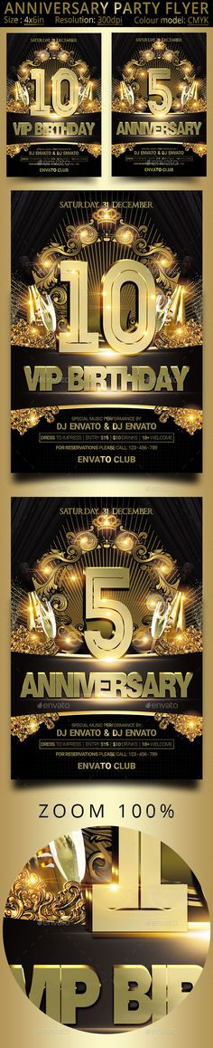 Anniversary #Party #Flyer - Events Flyers Download here:  https://graphicriver.net/item/anniversary-party-flyer/20040455?ref=alena994
