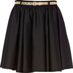 The perfect black skater skirt