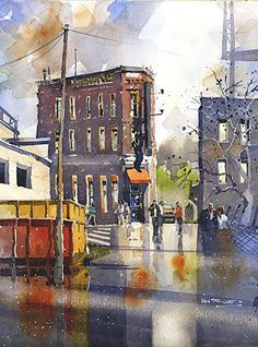 Terminal - Chattanooga by Iain Stewart Watercolor ~ 14 x 10