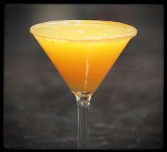 Agent Orange: SKYY Blood Orange Vodka, triple sec, orange, tangerine and pineapple juices. #martini #drink #recipe