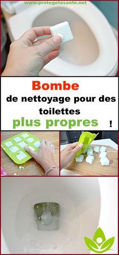 Une véritable bombe de nettoyage pour des toilettes plus propres!