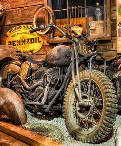 Knobby TIre Harley Motos Vintage, Vw Vintage, Vintage Bikes, Vintage Motorcycles, Custom Motorcycles, Custom Bobber, Harley Race, Harley Bobber, Old Harley Davidson