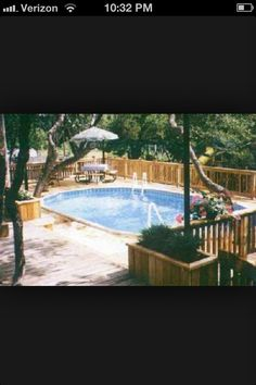 Pool deck also planter boxes