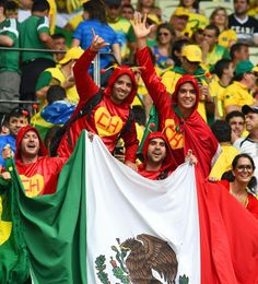 Love it! Chapaulines at the World Cup 2014! Mundial de Fútbol. Brasil vs. México