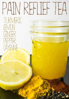 Pain Relief Tea - For aches, pain, and inflammation (turmeric, lemon, ginger, pepper, cayenne)