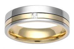 Two colour diamond wedding ring