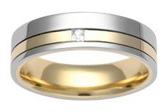 Two colour diamond wedding ring