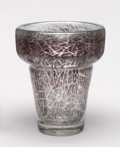 ** Maurice Marinot (1882-1960), Glass vase with Internal Inclusions.
