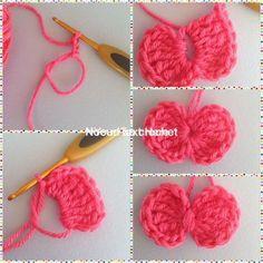 Apprendre à faire un petit noeud au crochet - #à #Apprendre #Au #crochet #faire #noeud #petit Crochet Bee, Love Crochet, Crochet Flowers, Crochet Hooks, Crochet Amigurumi, Appliques Au Crochet, Crochet Motifs, Patron Crochet, Knitting Patterns