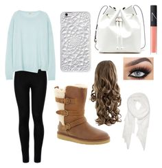 """""""Winter day"""" by hannahsdisney on Polyvore featuring UGG Australia, Wolford, J Brand, Felony Case, Calvin Klein, Sole Society and NARS Cosmetics"""