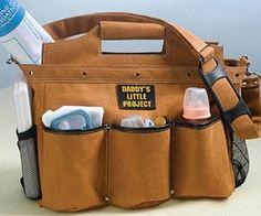 Daddy Diaper Bag. This is cute! hahaha