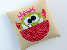 cute little monster pillow