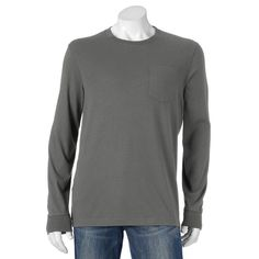 Men's Croft & Barrow® Solid Pocket Tee, Size:
