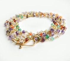 bead design using semi precious stones - Google Search