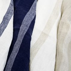 Gorgeous linen napkins. Anything great begins with the materials.