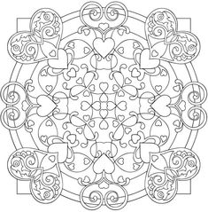 Heart Mandalas Coloring Book Pages For Adults Doodle Ur Out