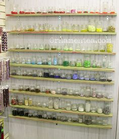 I should organize my rhinestones this way! What a lovely display for beads :D