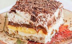 Λαχταριστό κρεμώδες γλυκό ψυγείου  Υλικά      Για την βάση  1 φλιτζάνι καρύδια, ψιλοκομμένα  3 κουταλιές της σούπας λευκή ζάχαρη  ½ φλιτζάνι βούτυρο  Αλεύρι 1 φλιτζάνι    Για την Κρέμα τυρί  1 πακέτο τυρί κρέμα  1 φλιτζάνι ζάχαρη άχνη (χρήσιμοποιείστε ½ κούπα αν το θέλετε πιο άγλυκο)  1