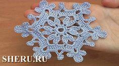 Knitting crochet snowflakes napkins. video 37