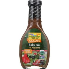 Field Day Dressing - Organic - Balsamic Vinaigrette - 8 Oz - Case Of 12
