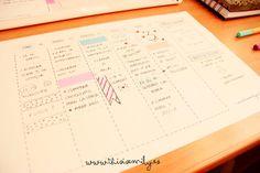 Organizador semanal This is Emily Blog