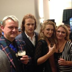 *NEW* Fan Pics of Sam Heughan at The Laphroaig Live 200 Year Celebration   Outlander Online