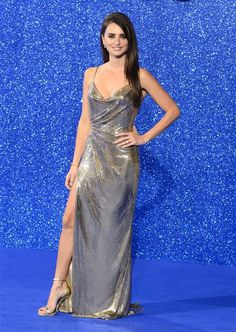 Penelope Cruz in silver Versace - Penelope Cruz's all-time sexiest looks