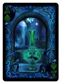 Bicycle R'lyeh Rising playing cards. Ace of Spades.