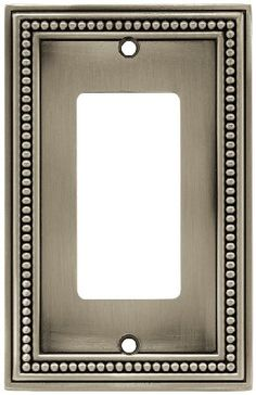 brainerd single decorator beaded collection wall plate brushed satin pewter single decorator wall plate traditional design x oval head machine screws
