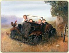 Dianne Dengel Original Art by DianneDengel Time Pictures, Pictures To Paint, Popular Artists, Book Themes, Stories For Kids, Artist Art, Vintage Art, Vintage Photos, Make You Smile