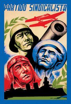 Partido Sindicalista Giclee on canvas Civil War Art, Barcelona, Party Poster, Canvas Prints, Art Prints, Vintage Ads, Politics, Spanish War, Valencia Spain