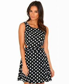 Pretty polka dot short dress