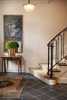 Ideas Wrought Iron Stairs Railing Gold For 2019 Wrought Iron Stair Railing, Stair Railing Design, Staircase Railings, Stairs, Staircases, Bannister, Iron Railings, Staircase Remodel, Entry Foyer