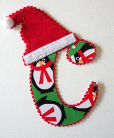 Santa Iron On Letter by alphabulous on Etsy, $7.00