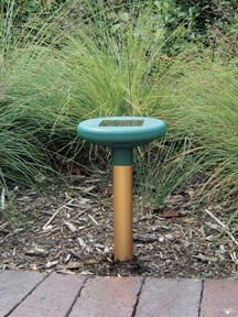 Solar Mole Chaser $26.95 Drives away moles, voles and gophers, day and night. Powered by an integral solar panel, emits sonic tone every 30 seconds. Anodizded aluminmum spike wih sonic transmitter. Charges in overcast conditions. 2 year warranty.
