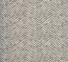 Sketchy Zig Zags - Pewter - Upholstery Fabric