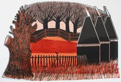 Trees and Oast Houses 33/75 by Robert Tavener