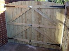 Curved top Convex Barrel Board Garden//Driveway Gates up to 8ft wide x 6ft high
